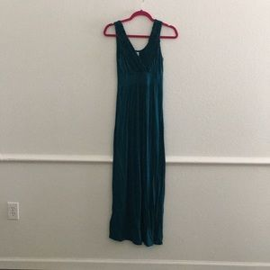 A teal maxi dress bought from Modcloth.